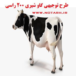 طرح توجیهی گاو شیری 200 راسی صنعتی