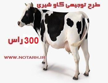دانلود طرح توجیهی گاو شیری 300 راسی صنعتی اصیل